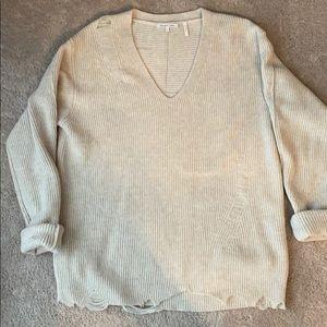 Helmet Lang destructed sweater